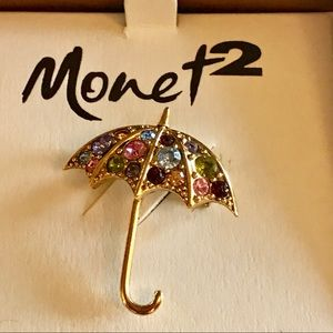 Monet umbrella Brooch